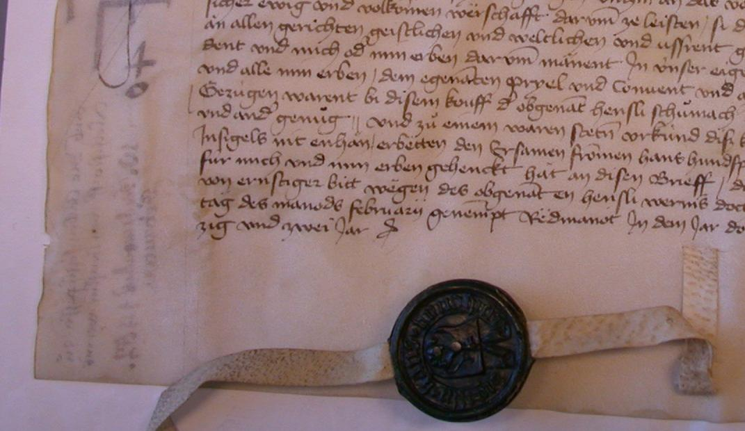 The Hundsperg Parchment Dated 1452