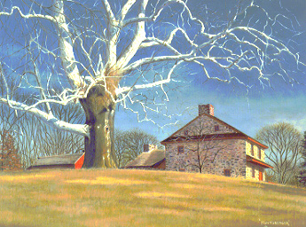 Lafayette's Headquarters - a painting by J. R. Huntsberger